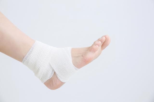 足首捻挫の施術