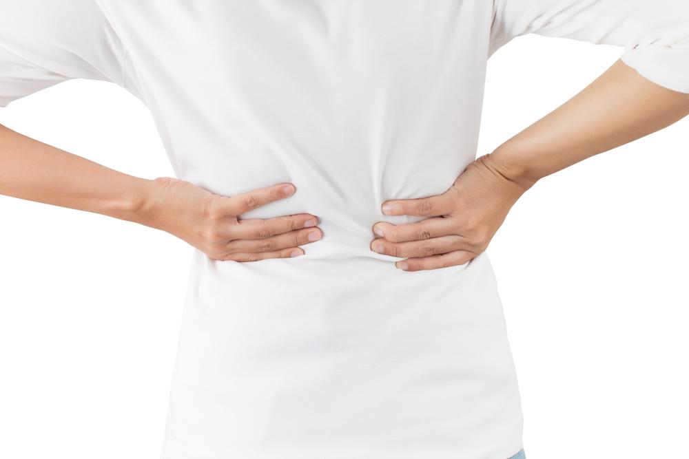 背中の痛みの施術